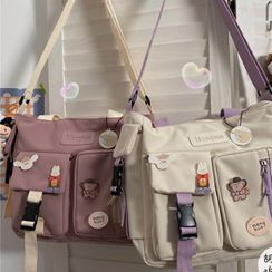 Anchara - Buckled Messenger Bag