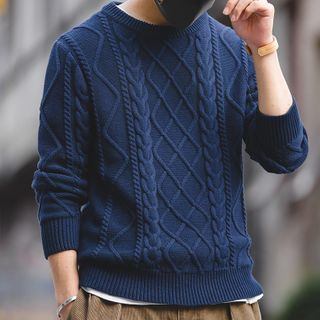 Maden - Round-Neck Cable-Knit Sweater