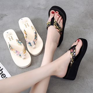Wello - Platform Wedge Flip Flops