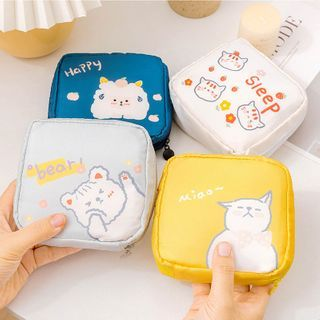 On My Mind - Cat Print Sanitary Pouch