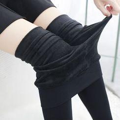 Meigo - 内抓毛贴身裤