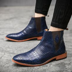 WeWolf(ウィーウルフ) - Low-Heel Faux-Leather Short Boots