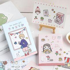 MUNBANG - 卡通日记背景装饰纸