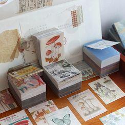 MUNBANG - 植物印花日记背景装饰纸