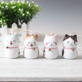 Cancion - Ceramic Cat Keyring