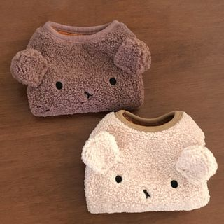 Bixin - Animal Earring Lambswool Pet Top