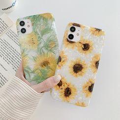 CeLLEAGUE - Sunflower Print Phone Case - iPhone 11, 11 Pro, 11 Pro Max, XS Max, X/XS, XR, 8p/7p, 8/7