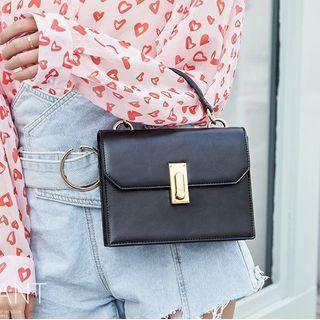 Aishang - Faux Leather Shoulder Bag