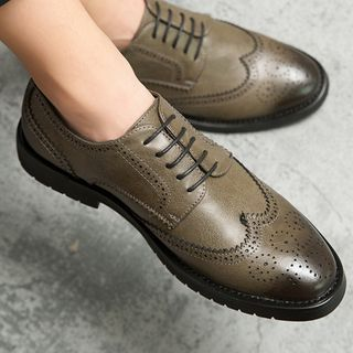 WeWolf - Faux-Leather Lace-Up Wingtip Oxfords