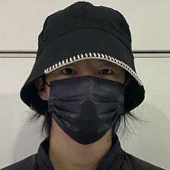Heloi - 配色飾縫線漁夫帽