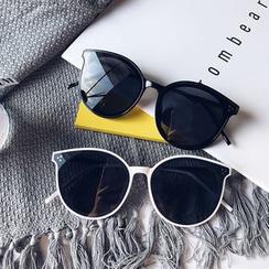 Aisyi(アイシー) - Oversized Round Cat Eye Sunglasses