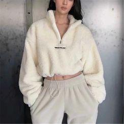Florentine - Half-Zip Faux Shearling Sweatshirt