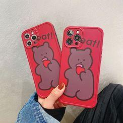 Kodato - Bear Print Phone Case - iPhone 12 Pro Max / 12 Pro / 12 / 12 mini / 11 Pro Max / 11 Pro / 11 / SE / XS Max / XS / XR / X / SE 2 / 8 / 8 Plus / 7 / 7 Plus