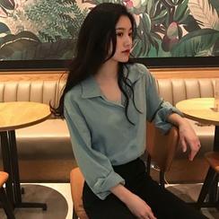 Windflower - 純色長袖襯衫