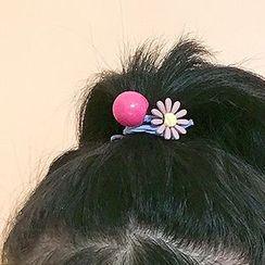 Recitbeau - Acrylic Flower & Bead Hair Tie