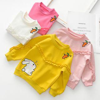 Shaneebabe - Kids Ruffled Cartoon Rabbit Sweatshirt