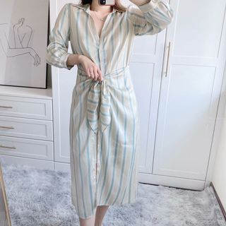 Dahlius - Striped Midi Shirtdress