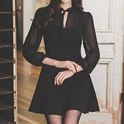Champi - Long-Sleeved Mini Dress