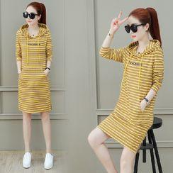 Carmenta - Striped Hoodie Dress