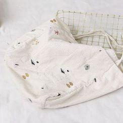Echo Forest - 刺绣灯芯绒手提袋