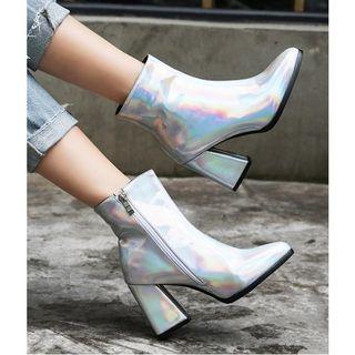 Freesia - 粗跟漆皮短靴