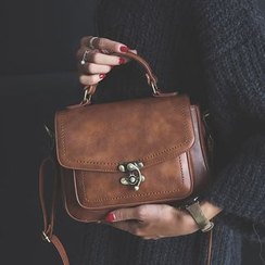 Gabbie - Faux Leather Satchel
