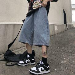 Shineon Studio - Wide Leg Denim Shorts