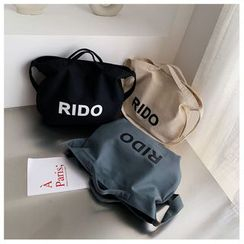 Miloes - Lettering Crossbody Canvas Tote Bag