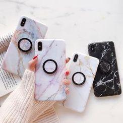Quivier - Marble Print Ring Stand Mobile Case - iPhone 8 / 8 Plus /  7 / 7 Plus / 6s / 6s Plus
