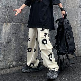 LINSI - Floral Print Cargo Pants