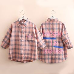 Seashells Kids - Kids Long-Sleeve Plaid Shirt