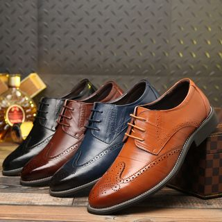 Taragan - Genuine Leather Lace-Up Brogue Shoes