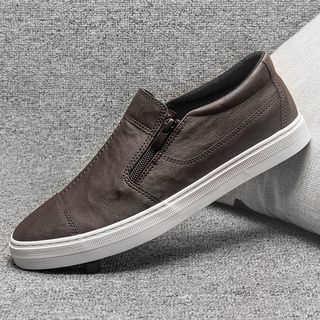 Namseong - Faux Leather Slip-Ons