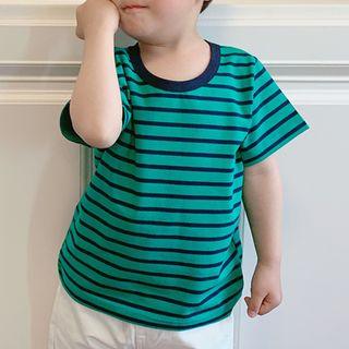 Peperoncino - Kids Short-Sleeve Striped T-Shirt
