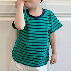Peperoncino - Kids Short-Sleeve Striped T-Shirt