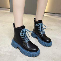 Putcho - 厚底繫帶短靴