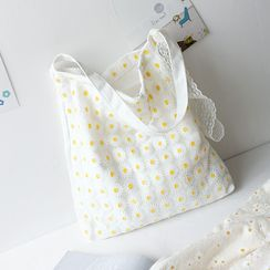 tablarosa(タブラロザ)  - Floral Embroidered Shopper Bag