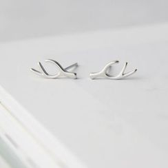 Gaya - 925純銀鹿角耳環