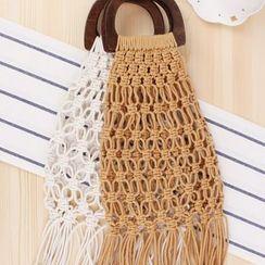 STYLE CICI - Fringed Straw Hand Bag