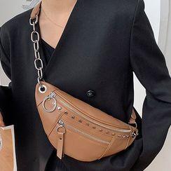 Sherrilynn - Studded Faux Leather Sling Bag