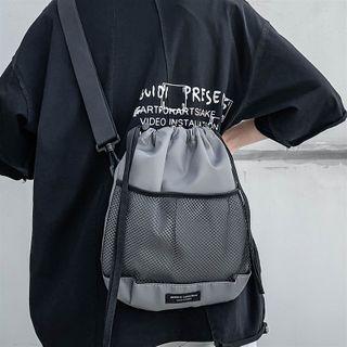 SUNMAN - Mesh Drawstring Crossbody Bag