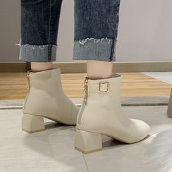 Moonwalk - Chunky Heel Short Boots