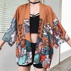 MELLO - Printed Kimono Jacket