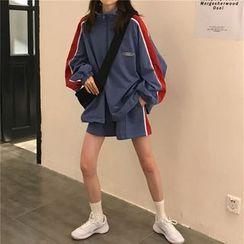 monroll - 插色半拉链套衫 / 运动裤 / 运动短裤