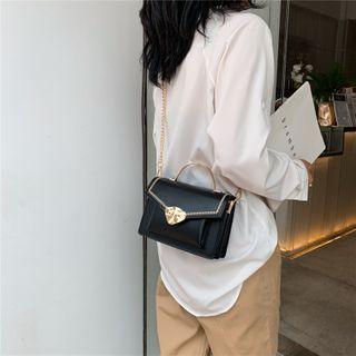 Genova - Faux Leather Flap Crossbody Bag