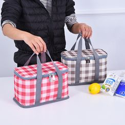 Lezi Bags - Plaid Insulated Lunch Bag