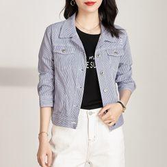Nerine - Striped Denim Jacket