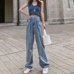 Shinsei - Knit Camisole / Wide Leg Jeans