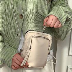 MERONGSHOP - Drawstring Zipped Mini Crossbody Bag
