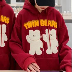Ink Brush - Couple Matching Embroidered Hoodie